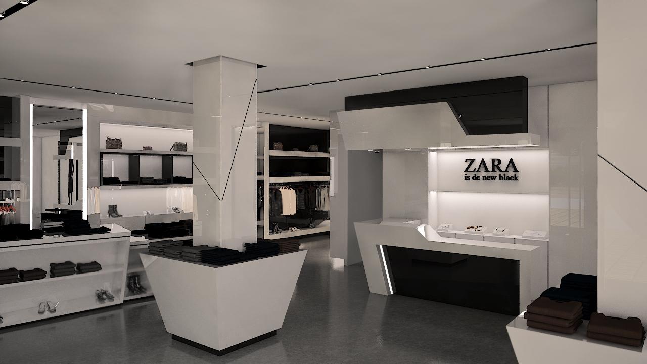 Nueva propuesta en blanco y negro para tienda de ropa for Decoracion de almacenes de ropa