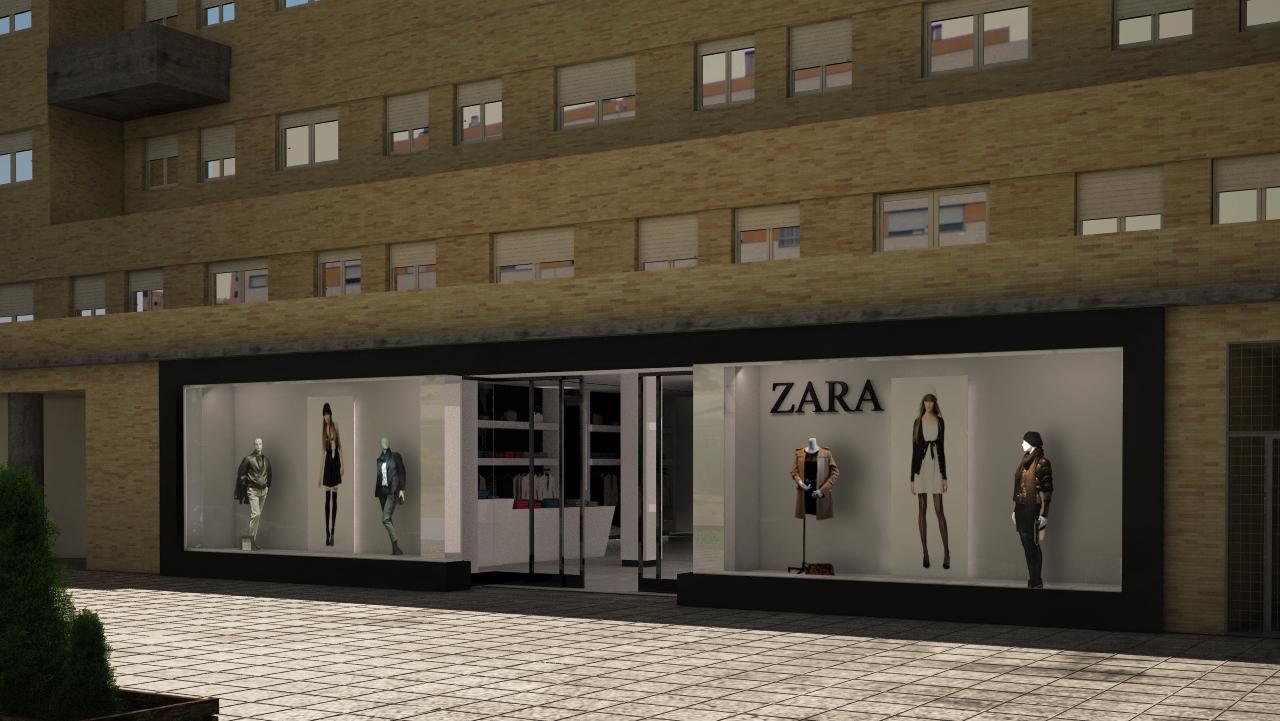 Nueva propuesta en blanco y negro para tienda de ropa for Fachadas de almacenes modernos