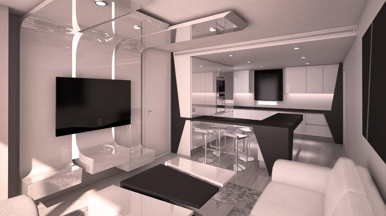 Dise o moderno de piso en madrid grupo ias - Fotos pisos modernos ...
