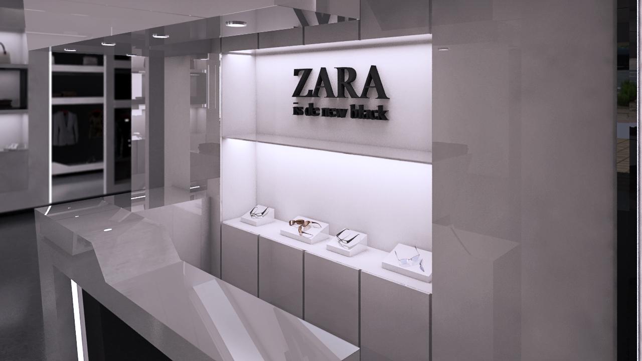 Nueva propuesta en blanco y negro para tienda de ropa for Disenos de interiores para boutique