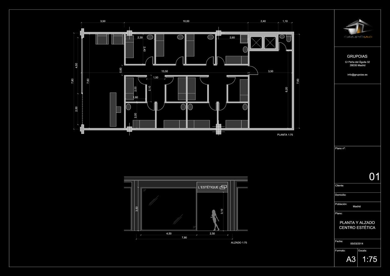 Diseño de centro estética GrupoIAS