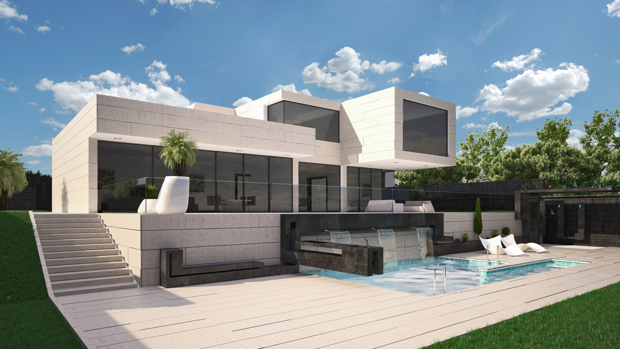 Dise o de vivienda unifamiliar en madrid grupo ias for Precios de casas modernas