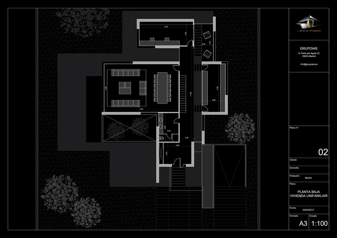 Viviendas unifamiliares planos ideas de disenos for Casas modernas unifamiliares
