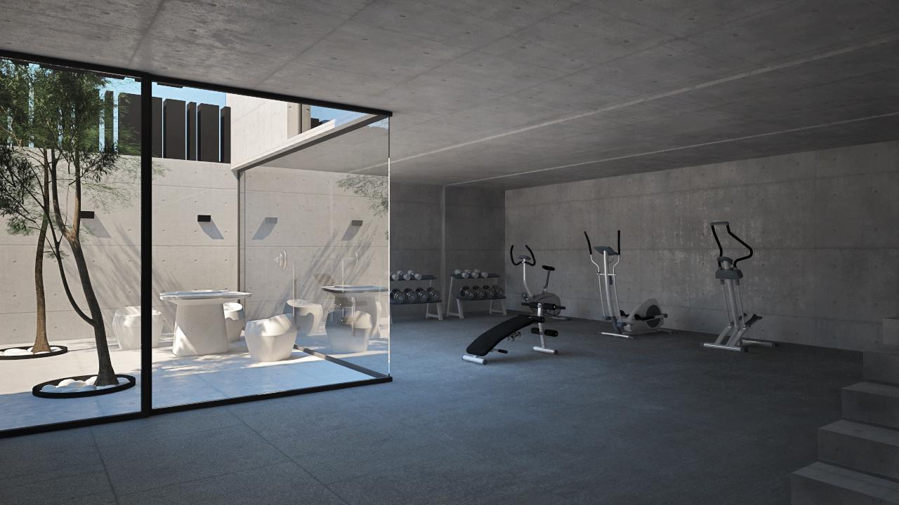 Dise o de vivienda unifamiliar en vila grupo ias for Gimnasios madrid con piscina