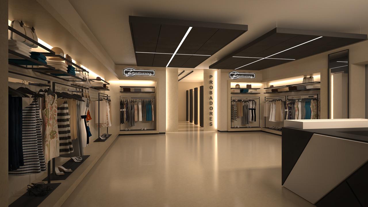 dise o de tienda de ropa para la firma stradivarius