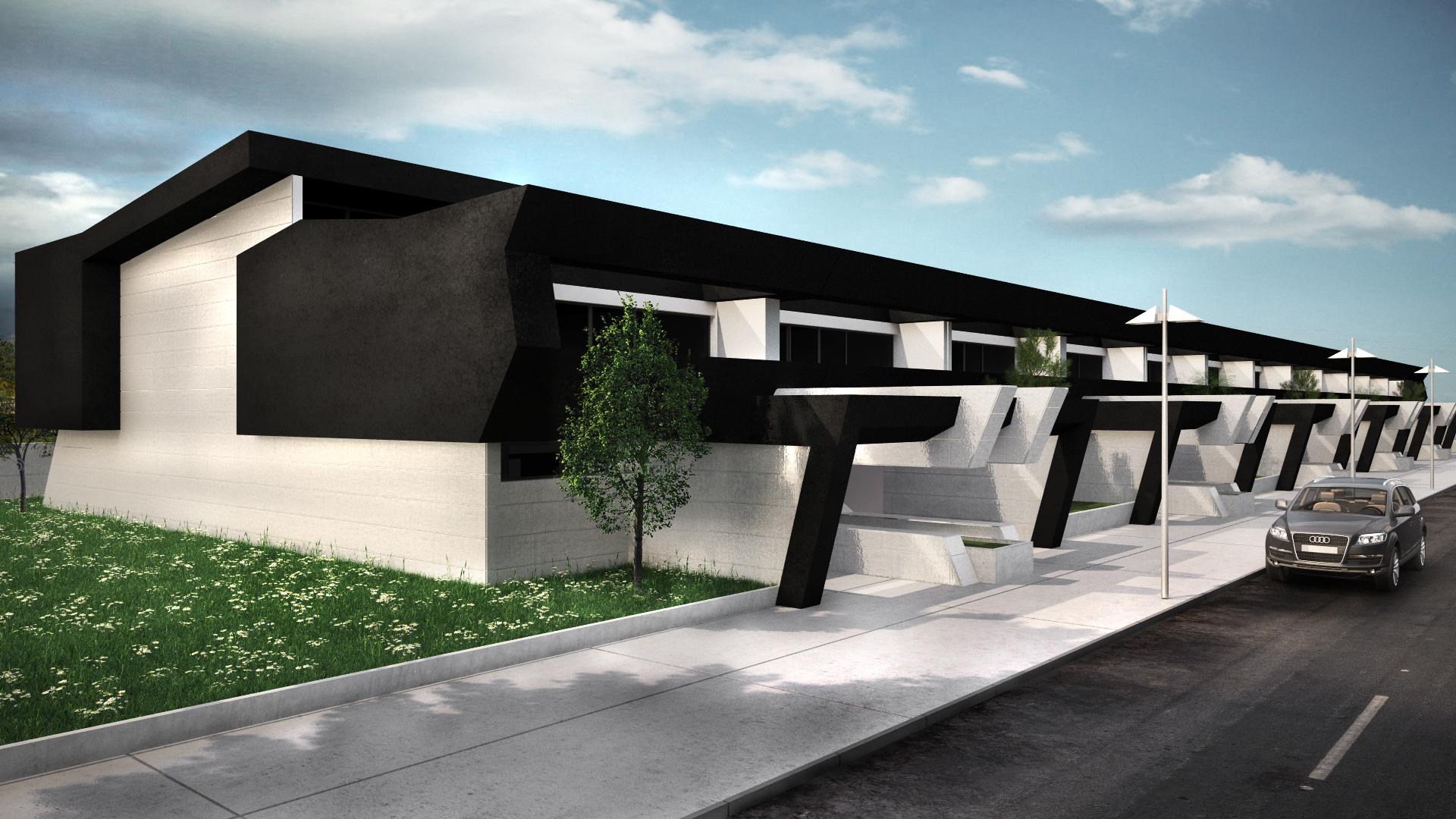 Dise o de viviendas adosadas en madrid for Diseno de viviendas