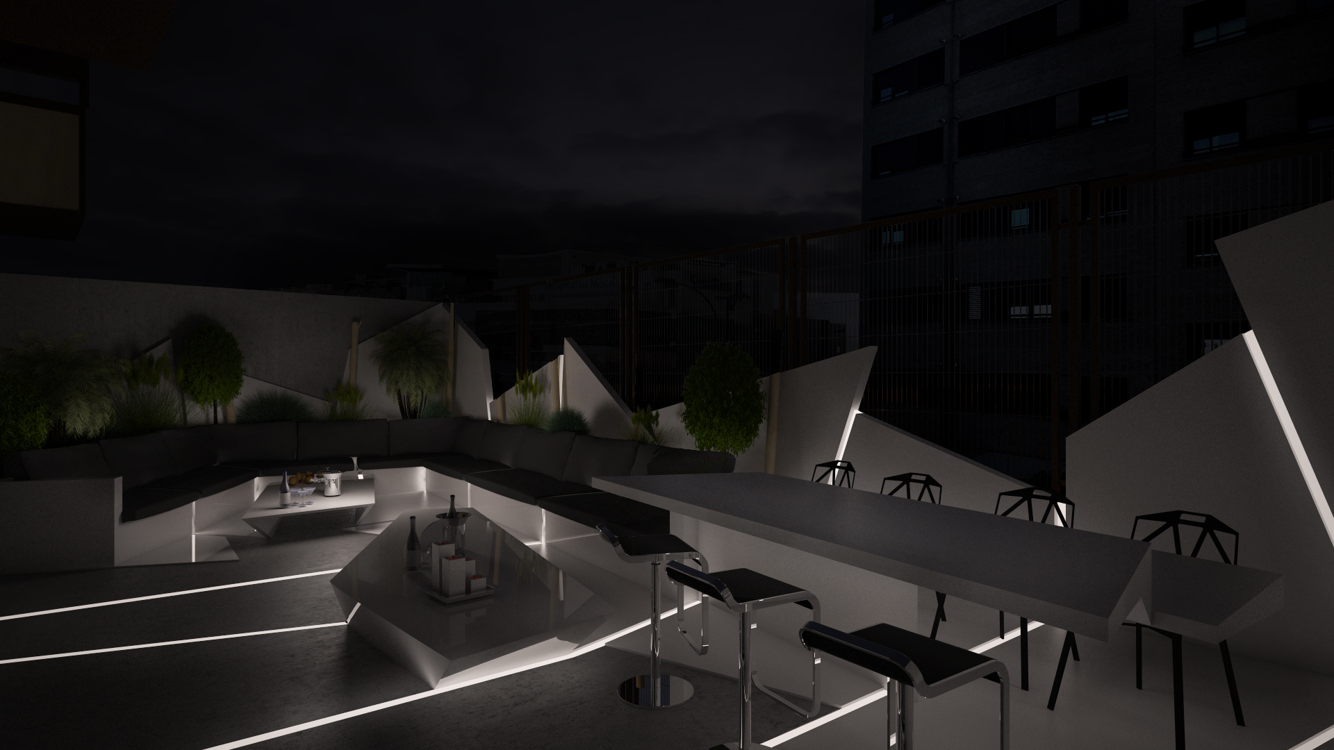 Propuesta de dise o de vivienda en madrid grupo ias for Terrazas nocturnas madrid