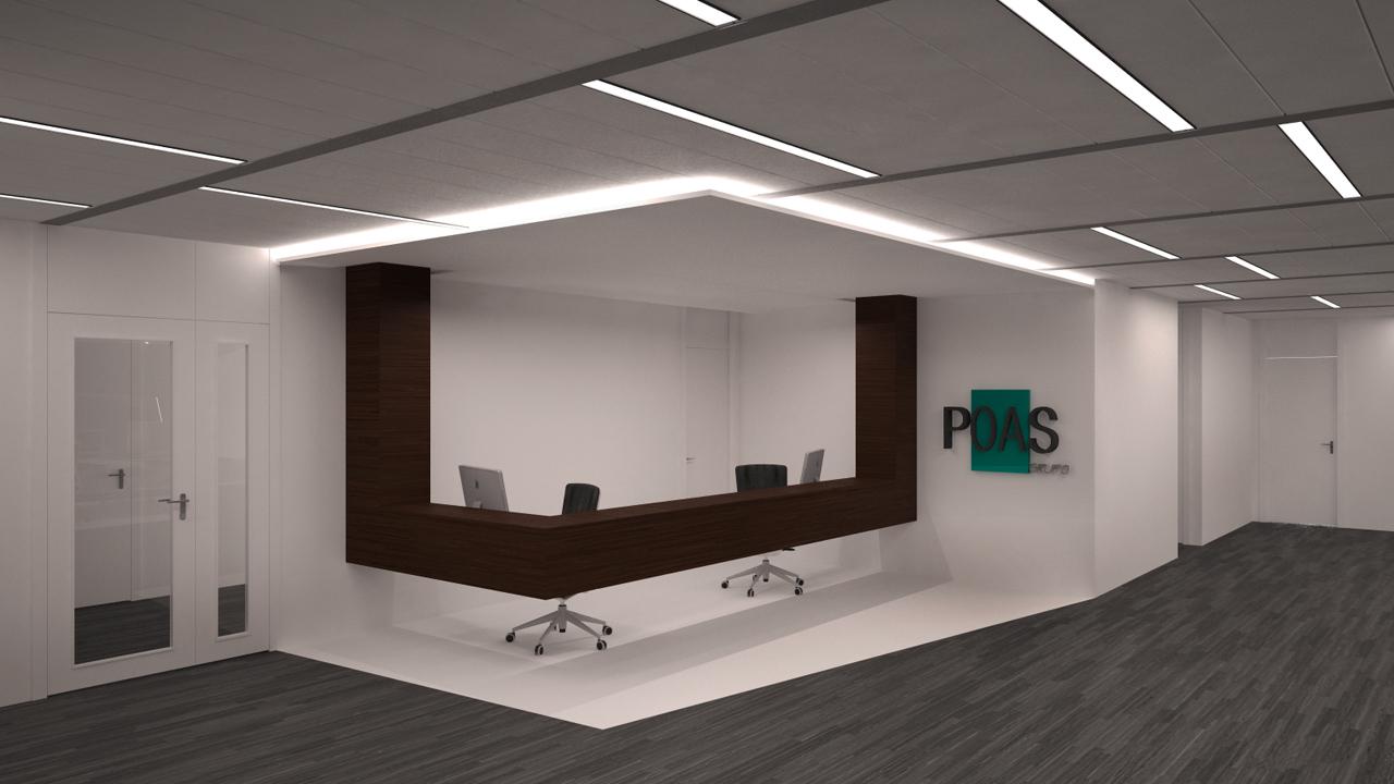 Dise o de oficinas en madrid grupoias for Mobiliario de oficina recepcion
