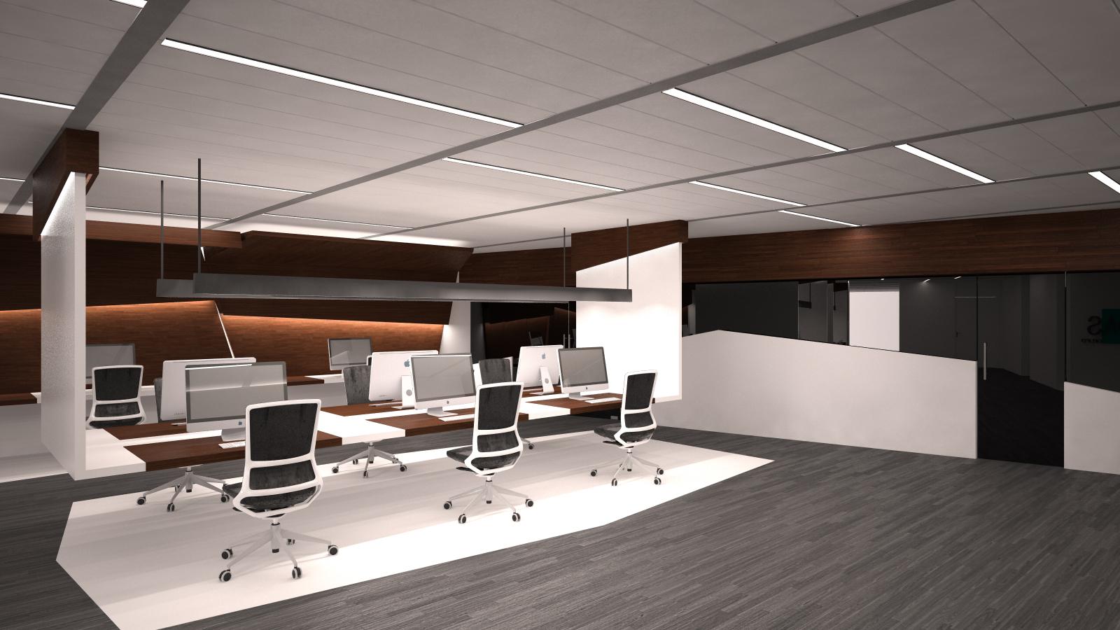 Dise o de oficinas en madrid grupoias for Plantas de oficinas modernas