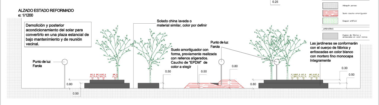 Alzado propuesta diseño urbanizacion