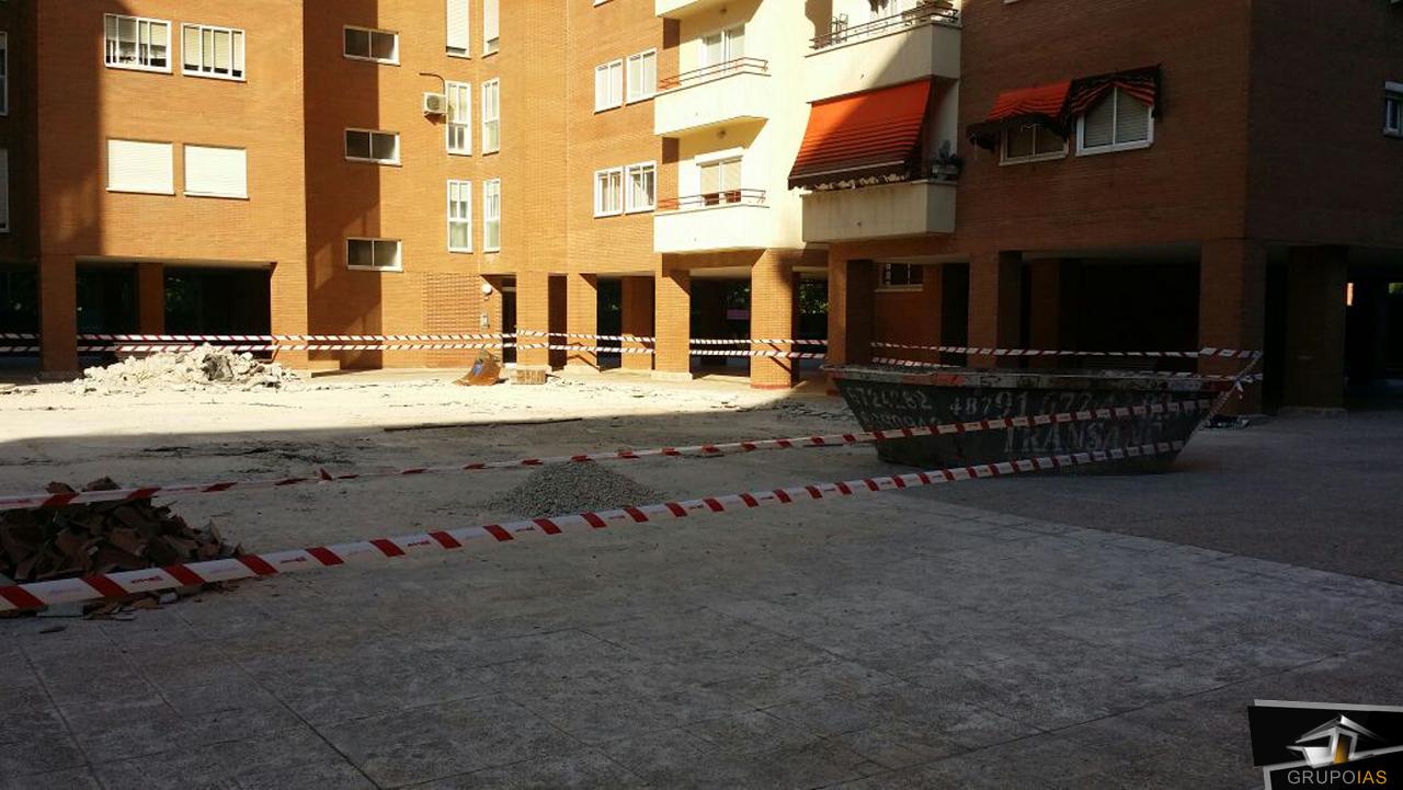 Demolición terminada en urbanización Puentelarra