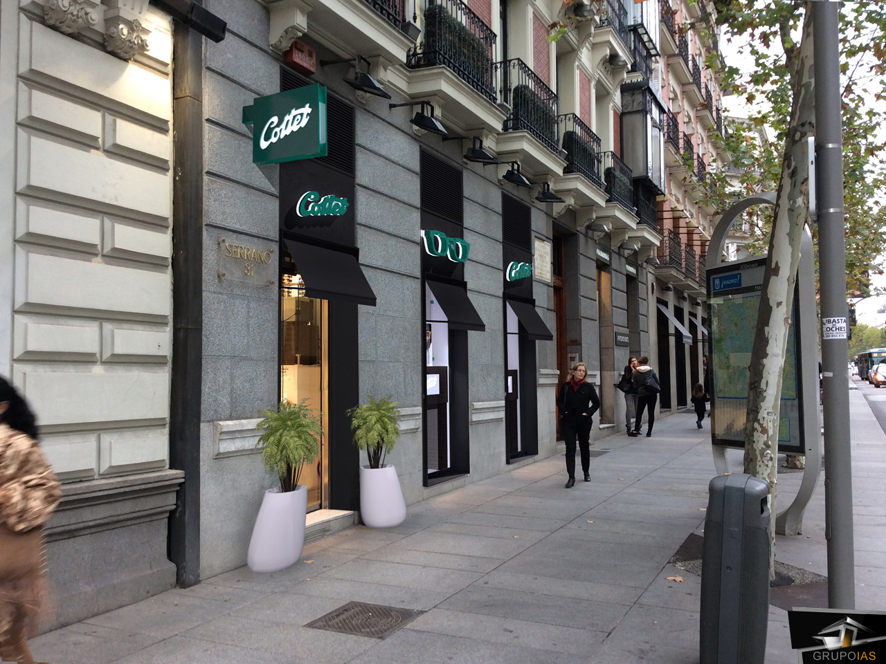 0e6c241f7f DISEÑO DE FACHADA ÓPTICA EN MADRID | Grupo IAS