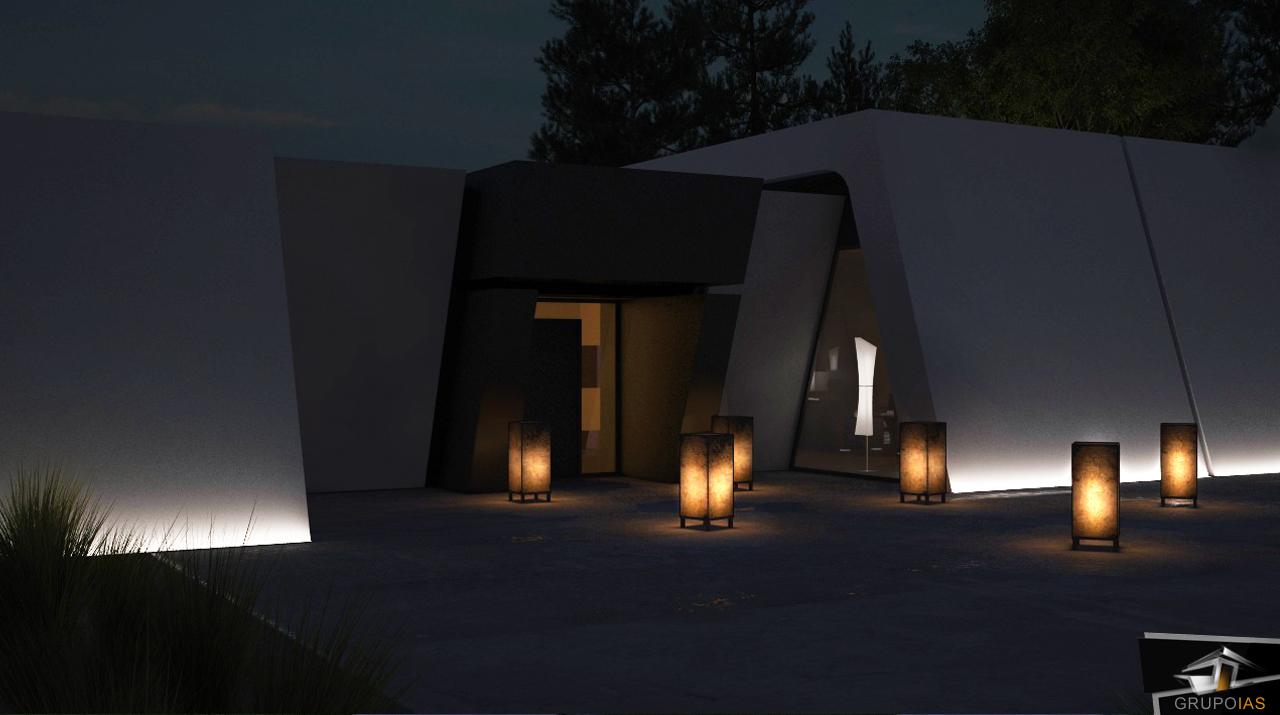 Entrada para vivienda de diseño