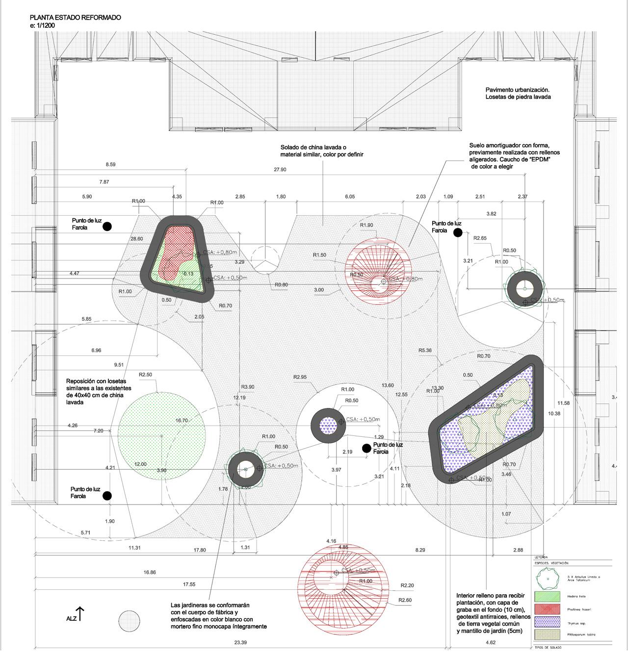 planta Propuesta diseño urbanización