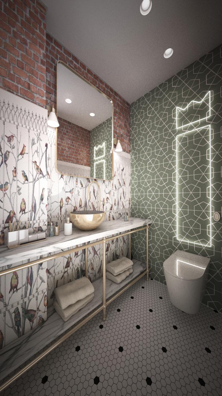 Baño restaurante diseño Grupoias
