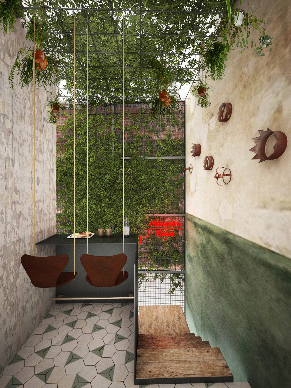 Interior diseño restaurante Grupoias