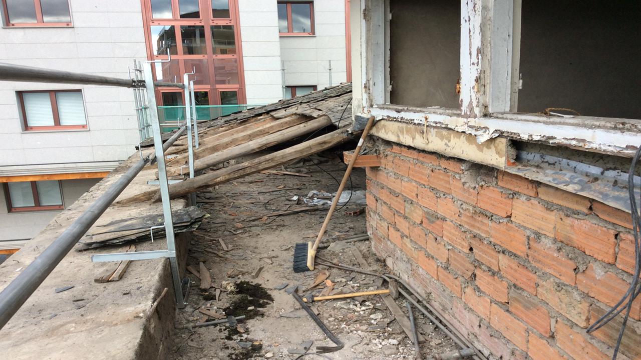 Cubierta edificio oficinas ine grupoias