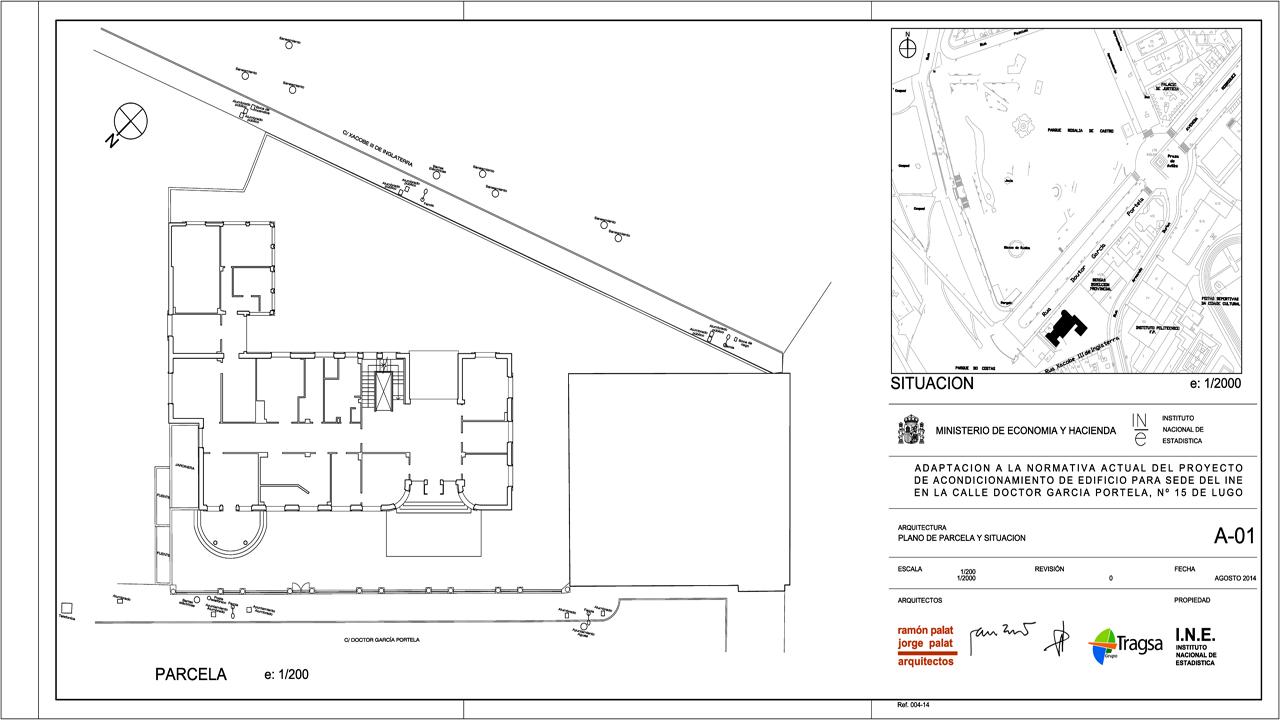 Plano edificio INE Lugo GrupoIAS