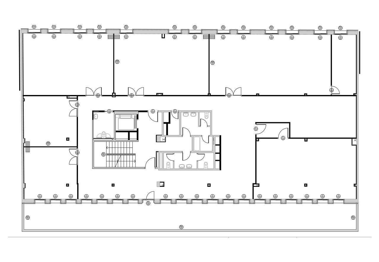 Plano rehabilitación edificio barcelona Grupoias