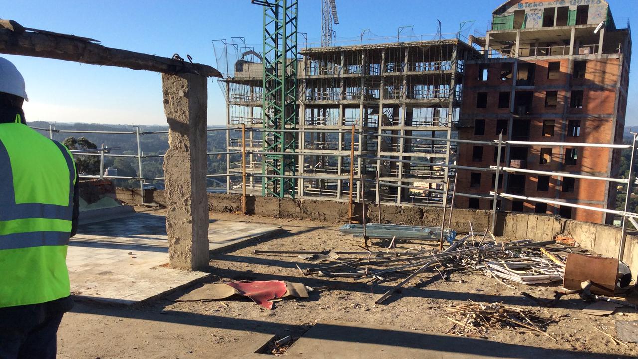 demolición cubierta edificio ine grupoias